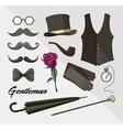 Set of elements for gentlemen vector image