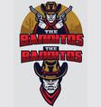 wild west bandit mascot vector image