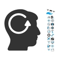 Refresh Head Memory Icon With Copter Tools Bonus vector image