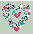 Cute social bird love vector image vector image