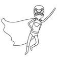 monochrome silhouette faceless of superhero boy vector image