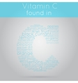 Vitamin C info-text background vector image vector image