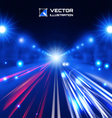 blue tint night road vector image vector image