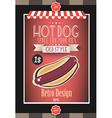 Vintage HOT DOG poster template for bistro vector image