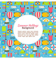 Flat Summer Holidays Background vector image vector image