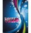 calendar design 2012 on blue background vector image
