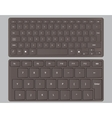 keyboards black vector image vector image
