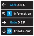 Aeroport signs and symbols1 vector image