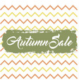 autumn sale background vector image
