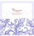 Barocco watercolor lace ornament vector image