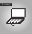 Black and white style icon case of money vector image