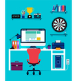 Computer and office equipment vector image