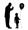 father scolds child does not understand vector image