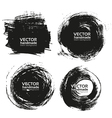 Handmade black strokes- backgrouns painted ink vector image vector image