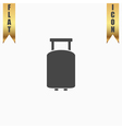 Travel suitcase flat icon vector image