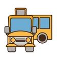 drawing yellow school bus transport pupils vector image