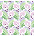 colourful calla lilies pattern vector image