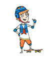 Close-up of boy standing on board vector image vector image