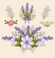floral design element for page vector image