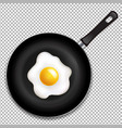 frying pan with fried eggs isolated vector image