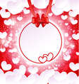 Paper banner with two hearts vector image vector image
