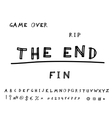 Game over Hand drawn eps8 vector image vector image