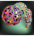 geometric bubbles pattern vector image vector image