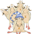 A goat club cartoon vector image vector image