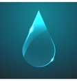 glass blue drop icon vector image