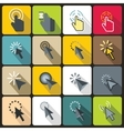Mouse pointer icons set flat style vector image