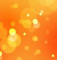 Abstract Bokeh Lights on Orange Background vector image