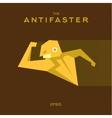 Anti Hero superhero flat style icon logo vector image