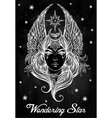 Beatuful woman as a Star diety or Tarot card vector image