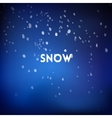 Christmas square blurred background - night snow vector image