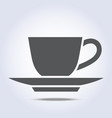 coffee cup and plate icon vector image