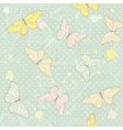 Delicate seamless pattern with butterflies vector image