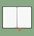 flat notebook vector image