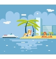 Gigls Sunny Beach Planning Summer Vacation Tourism vector image