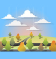 nature landscape in cuted paper style vector image