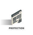 protection icon symbol vector image