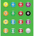 snooker ball icons vector image