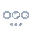 Toilet paper Icon set vector image