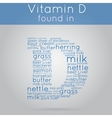 Vitamin D info-text background vector image
