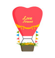 wedding fashion transportation wedding air balloon vector image