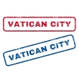 Vatican City Rubber Stamps vector image