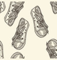 seamless pattern of shoes vector image