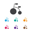 of kid symbol on bike icon vector image