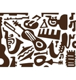 Jazz music instruments -doodles vector image