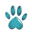 Blue animal paw vector image vector image