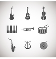 set of musical instrument icons vector image